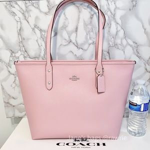 SALE New Coach Pink Leather City Tote